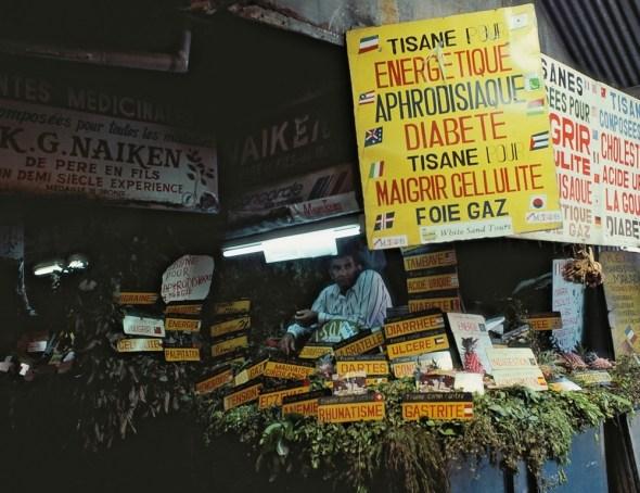 Mercado de remedios  en Mauricio. Foto: Eduardo Aznar.