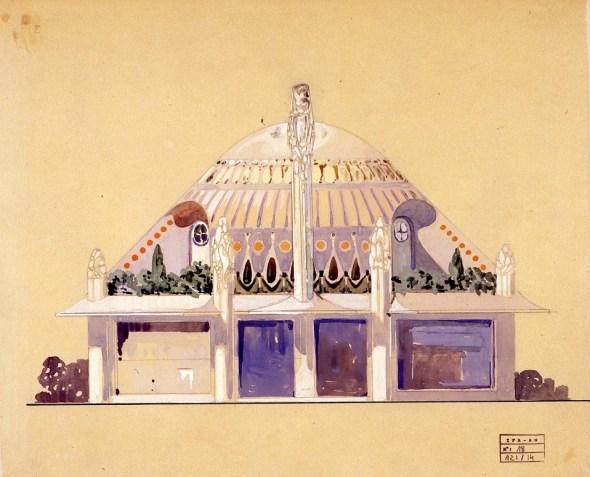 HENRI SAUVAGE. Pabellón Primavera en la Exposición Internacional de Paris 1925.