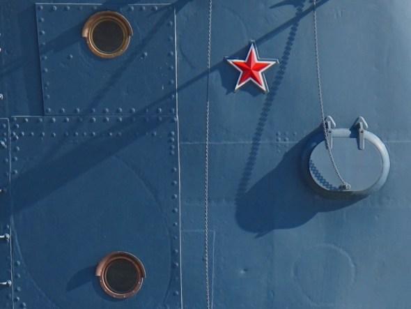 El crucero Aurora desde dónde se señaló el comienzo de la revolución bolchevique y asalto al Palacio de Invierno en San Petersburgo. Foto: J. Barandica /