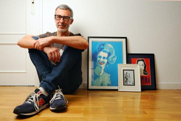 Paco Tomás en su casa de Madrid. Foto: Roberto Villalón.