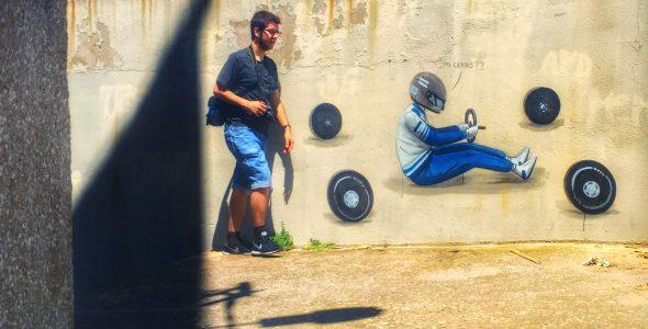 ¿Mi carro?. Mural de Escif en la Font de la Pólvora. Foto: Manuel Cuéllar.