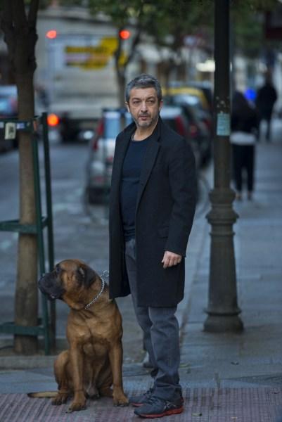 Ricardo Darín con su perro Truman.