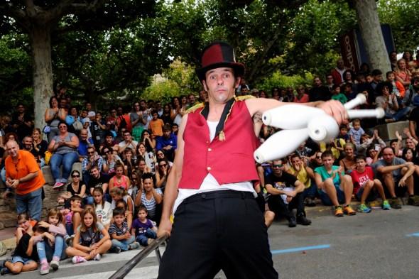 Uno de los espectáculos Off de la Fira de Tárrega. Foto: Roberto Villalón.