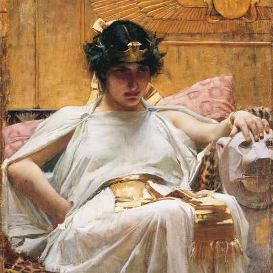 Cleopatra de John William Waterhouse.