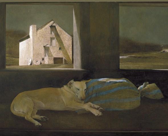 Andrew Wyeth. 'Durmiente nocturno, 1979'. Colección Privada.