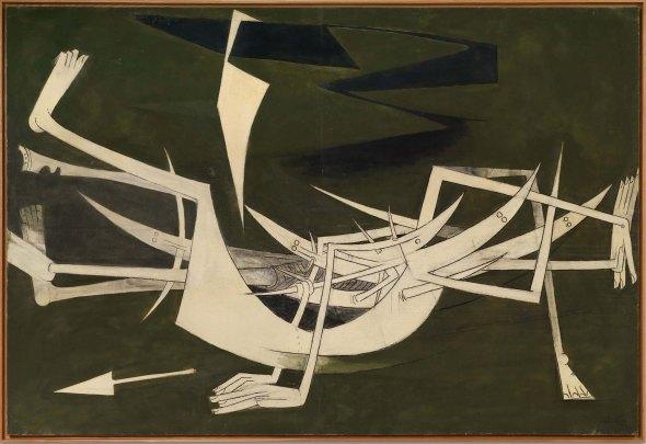 'A tres centímetros de la tierra', 1962. Wifredo Lam.