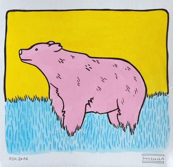 Obra original de Sanz i Vila en la galería Mad is Mad dentro del programa de Capital Animal.