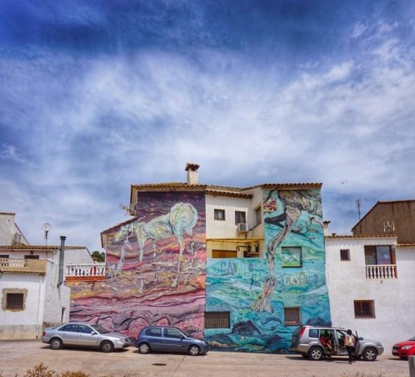 Fachadas de Fanzara. Foto: Manuel Cuéllar.
