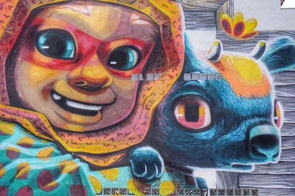Detalle de un graffiti en Fanzara. Foto: Manuel Cuéllar.