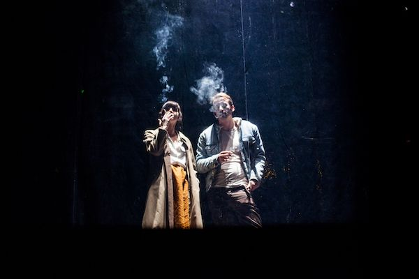 Un momento de 'Cine' de la compañía La Tristura en los Teatros del Canal.