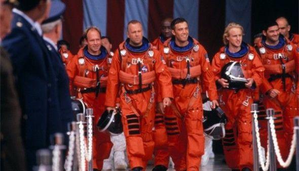 Los 'perforadores' espaciales a salvar el mundo en Armaggedon.