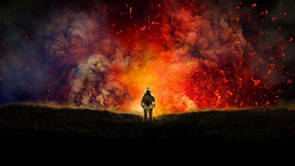 Un fotograma de la película 'Dentro del volcán' de Werner Herzog.