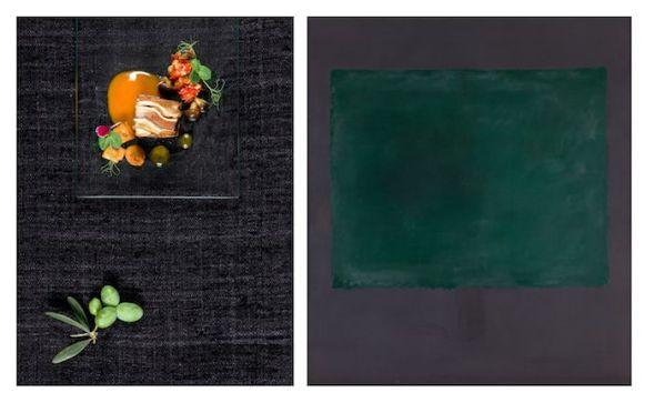 El cuadro Sin título (verde sobre morado) de Mark Rothko interpretado por el chef Manuel Urbano.