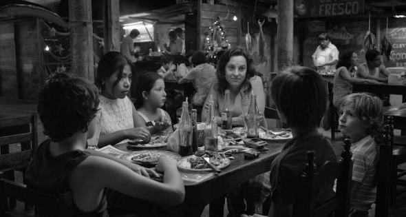 Detalle de un fotograma de 'Roma' de Alfonso Cuarón. Foto: Netflix.