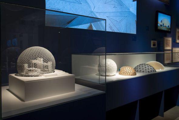 Una vista de la magnífica exposición sobre Richard Buckminster Fuller en el Espacio Fundación Telefónica de Madrid.