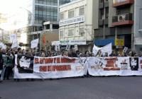 Gran convocatoria en la marcha por la aparición de Santiago Maldonado