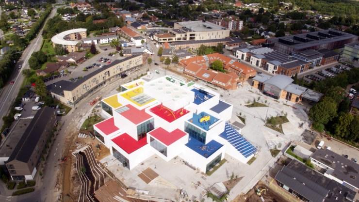 Lego House. Casa Lego foto Google Earth
