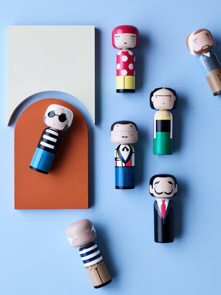 Muñeca Kokeshi Doll artistasLucie Kaas