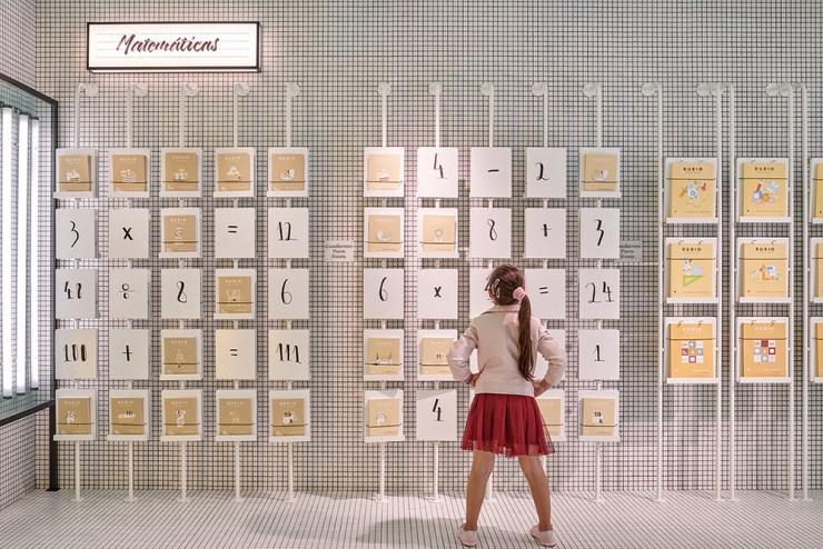 Tienda RUBIO en Valencia. Proyecto de Masquespacio. Papelería para niños. Cuadernos RUBIO