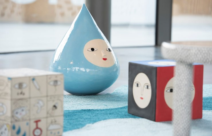 Gotas de agua de cerámica esmaltadas