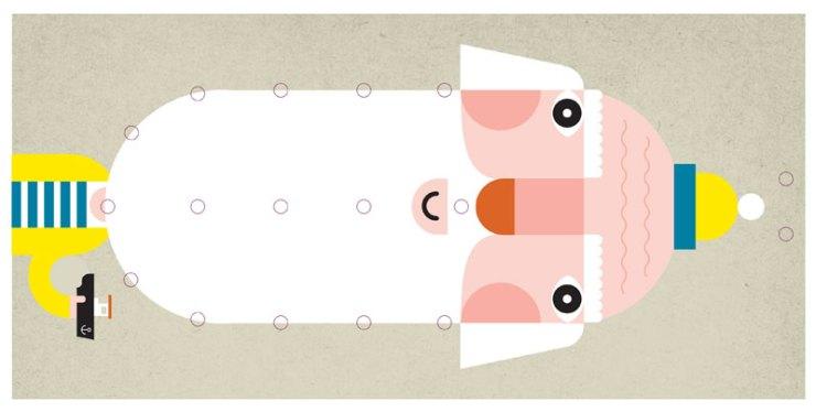 Joana Casals Pelegrí ilustración señor barbudo