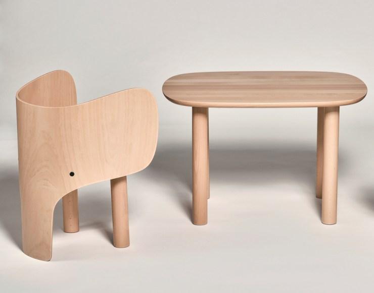 Marc Venot. Elehant. Silla y mesa para niños
