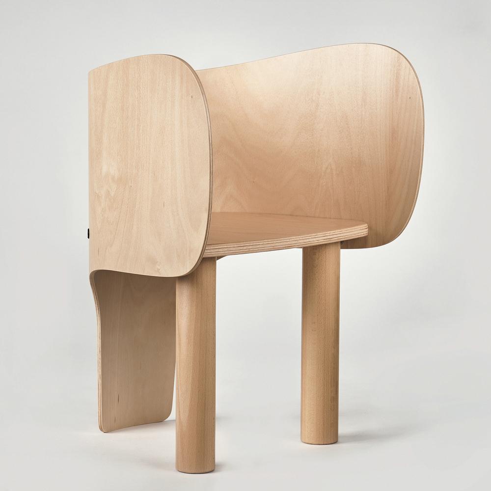 Silla con forma de elefante para niños