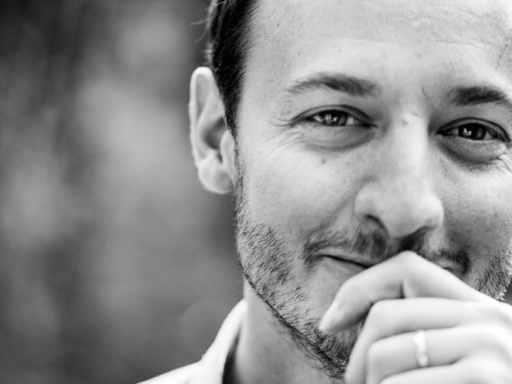 Retrato en blanco y negro de Marc Venot