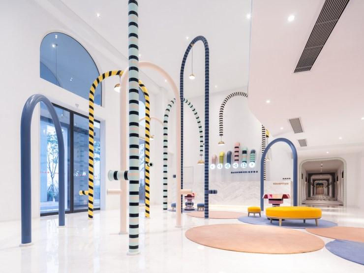 Magic Hotel en China. Hotel para niños. Recepción