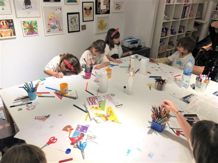 Superpoderes del arte. Extraescolares arte contemporáneo en Barcelona. Arts and crafts niños.