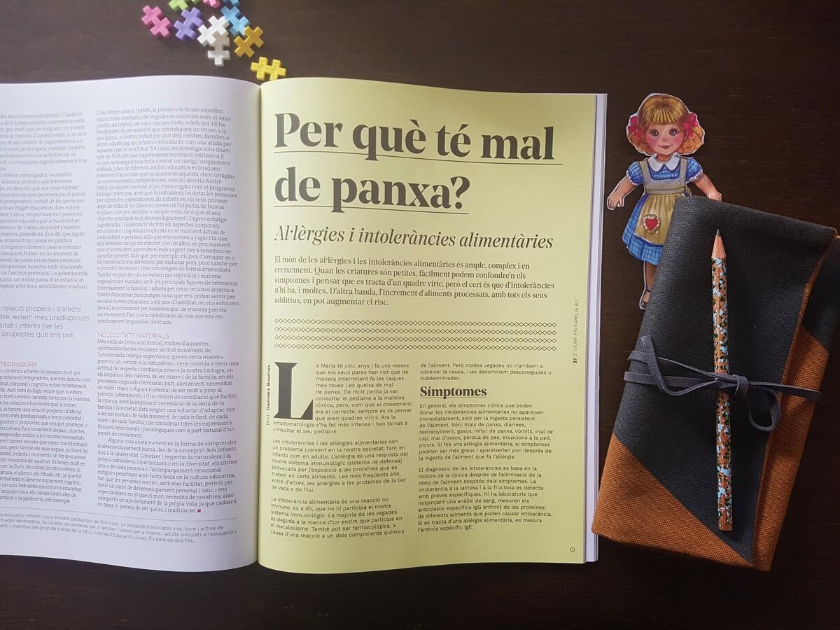 Viure en Familia. Revista familiar sobre criança. Mal de panxa nens