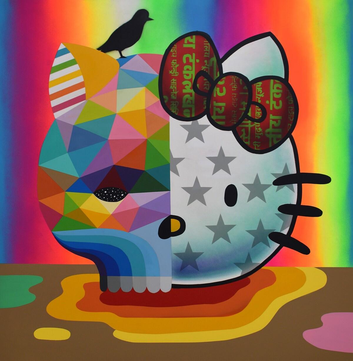 Okuda San Miguel x Hello Kitty