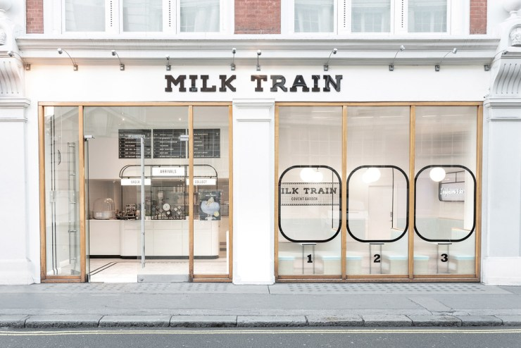Milk Train heladería Art Déco en Covent Garden, Londres. Muy instagrameable. Exterior
