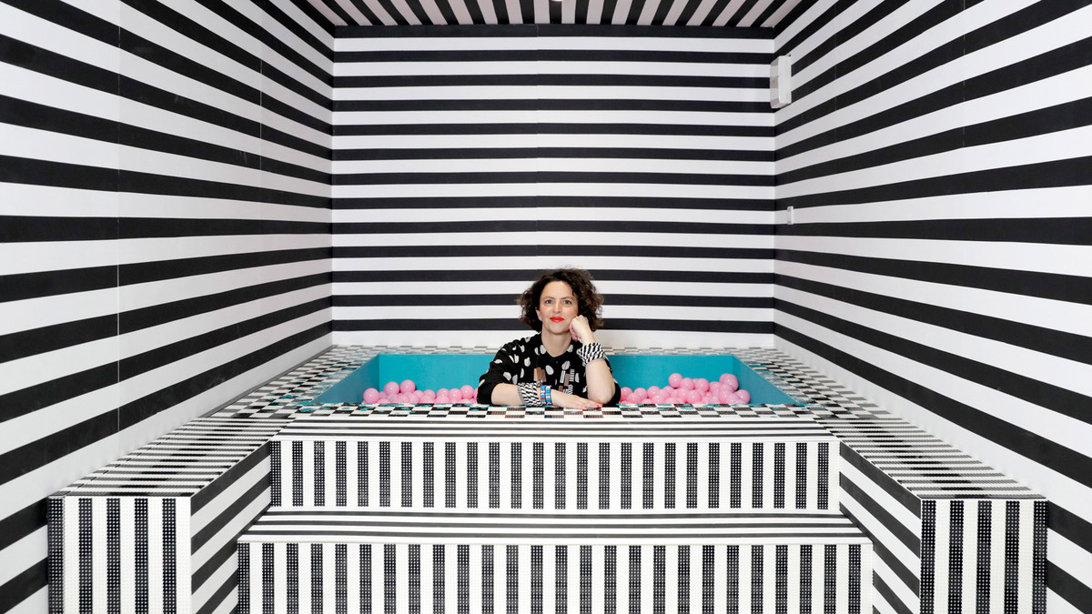House of Dots. Camille Walala x Lego. Londres. Baño