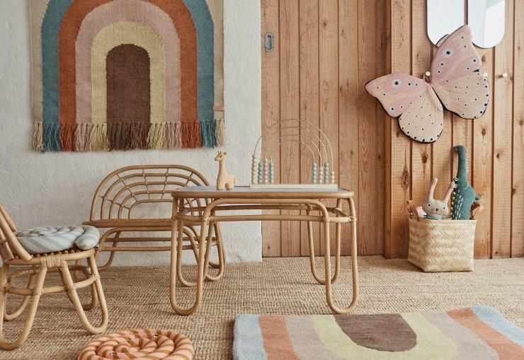 Muebles de bambú y ratán para niños. OYOY Living Design