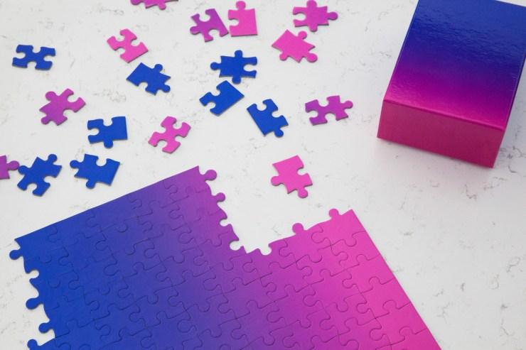 Puzzle difícil degradado de color