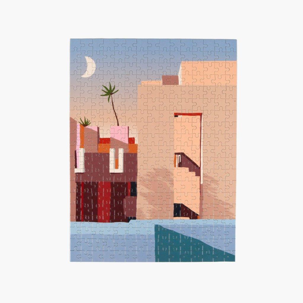 Puzzle arquitectura La Muralla Roja de Clape, Ricardo Bofill
