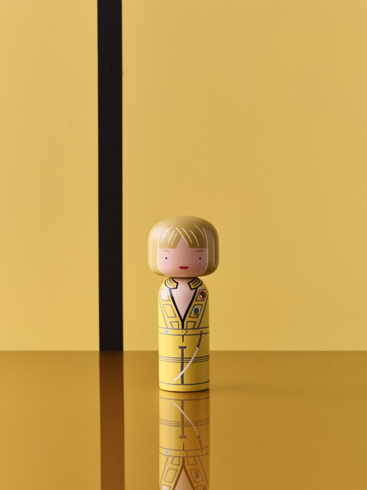 Tarantino Kokeshi dolls by Lucie Kaas. Kill Bill. the Bride