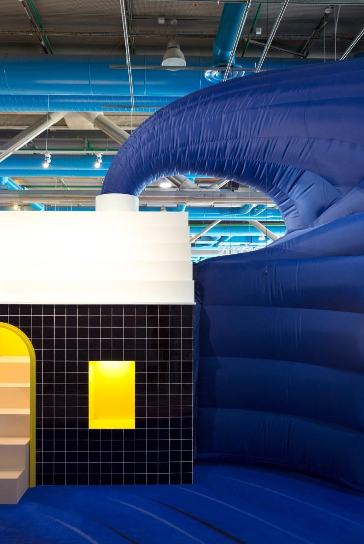 Instalación para niños Galerie Party en el Centro Pompidou de París