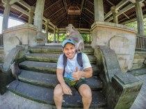 Fazendo amigos aqui em Ubud.