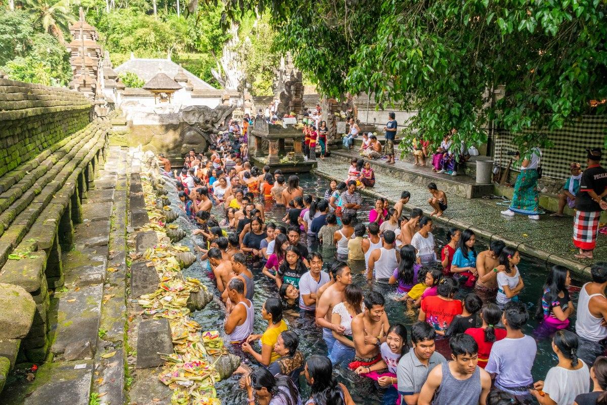 Pura Tirta Empul, o Templo da Água Sagrada.
