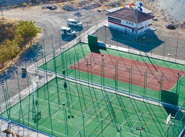 Ağın'da spor tesisleri yenilendi
