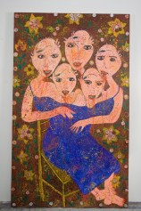 Las Chismesas 80(in) x 48(in) 2002 Collection of Family