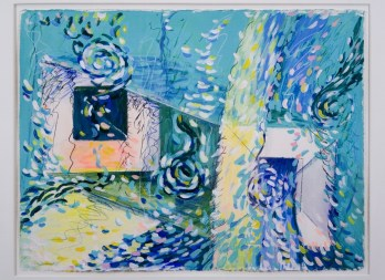 Niveles Sutiles 1 22(in) x 30(in) Work on Paper 1987 Collection of Family