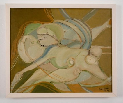 """Elba Damast, """"Misterious Couple,"""" 1972 15(in) x 18(in) Collection of Family"""