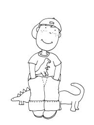 pintar-nincc83o-dinosaurio