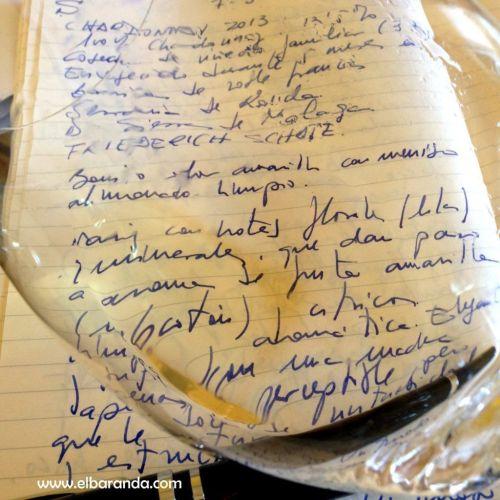 S de chardonnay 2013 en copa