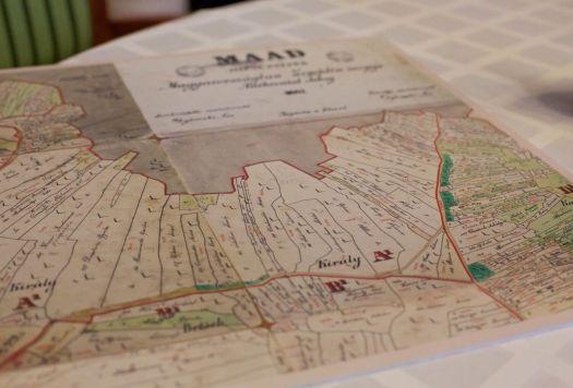 Mapa de 1867 de parcelas en Mád