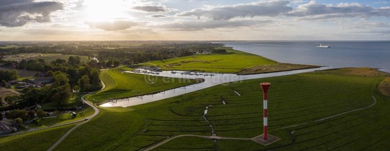 Leuchtturm Hafen Elbe Einfahrt Otterndorf 1
