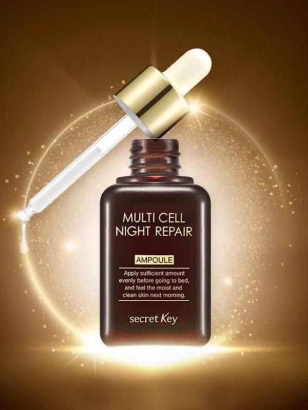 secretkey multi cell night repair ampoule